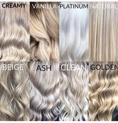 Blonde color terminology Blonde color terminology Related Post Bob Short Blonde Balayage Fresh Ash Blonde Hair Color Shades You Must Try Ri. The Biggest Blonde Trends for Spring 2016 A perfect color for brunettes who want to go light. Color Rubio, Platinum Blonde Hair, Neutral Blonde Hair, Toner For Blonde Hair, Blonde Hair Colors, Cream Blonde Hair, Gray Hair, Shades Of Blonde Hair, Toning Blonde Hair