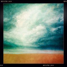 Norfolk Skies. Oil on canvas. Sketch elements #Art