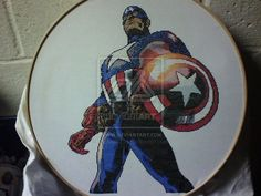 Captain America Cross-Stitch by saber4734.deviantart.com on @deviantART