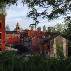 View of OTR looking south towards the river