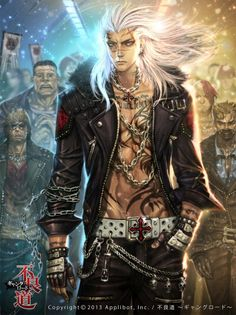 male human or elf punk; shadowrun