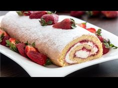 Strawberry Swiss Roll :: Home Cooking Adventure