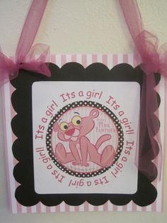 Made a Pink Panther door sign.