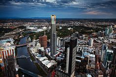 eureka tower at twilight Eureka Tower, San Francisco Skyline, Twilight, Melbourne, Skyscraper, Times Square, Australia, Travel, Country