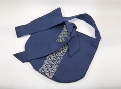 Sac à main tissu japonais Seigaiha bleu €35.00
