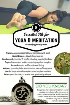 8 Essential Oils for Yoga & Meditation - Drops of Joy Jewelry