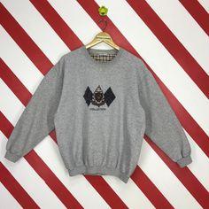 Vintage 90s Lyle   Scott Sweatshirt Lyle Scott Collection Sweater Crewneck  Lyle And Scott Jumper Unisex Lyle Scott Printed Logo Grey Size L 0db97cf7e
