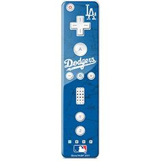 The MLB Los Angeles Dodgers Wii Remote Controller - Alternate Solid Distressed Skin is made from a 3M durable auto-grade vinyl for an ultimate lightweight Wii Remote Controller decal protection withou