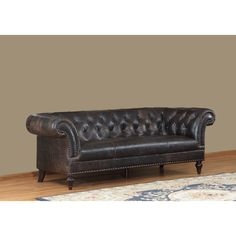 Jaffna Leather Sofa - Overstock™ Shopping - Great Deals on Sofas & Loveseats