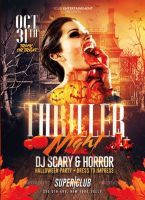 Thriller Night Halloween | Flyer Template by RomeCreation