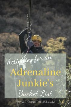 From thrilling heights to daring underwater adventures, these activities are a must for any adrenaline junkie's bucket list.