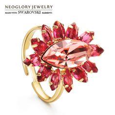 Vind meer ringen informatie over Neoglory Oostenrijk Crystal & Zirkoon…