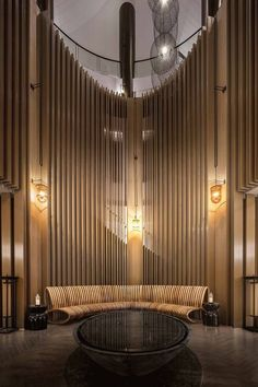 Working on a hotel lobby lighting interior design project? Lobby Interior, Luxury Homes Interior, Room Interior Design, Hotel Bedroom Design, Hotel Lobby Design, Designer Hotel, Century Hotel, Mid Century, Lounge Design