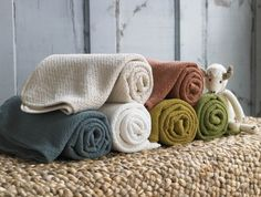 coyuchi honeycomb mini blanket