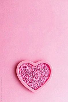 Heart shaped cookie cutter filled with sprinkles by Ruth Black - Love, Heart - Stocksy United Pink Love, Cute Pink, Pretty In Pink, Pastel Pink, Pink Purple, Heart Shaped Cookie Cutter, I Believe In Pink, Pink Wallpaper, Everything Pink