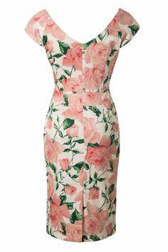 The Pretty Dress Company Sorento Pink Roses Hourglass Pencil Dress 102 57 12557 20140613 0005 Vintage Pencil Dress, The Pretty Dress Company, Occasion Wear, Summer Dresses, Formal Dresses, Pretty Dresses, Pink Roses, Fashion Dresses, Vintage Fashion