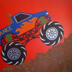 Monster truck mural  Painted along with Kim Cunningham