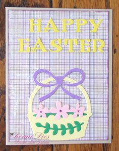 Lori's Kreations Yellow Paper, Green Paper, Pink Paper, Easter Religious, Purple Sparkle, Distress Ink, Happy Easter, Basket, Stamp
