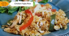 "Low Fat and gluten free, this Chicken Fajita Rice is a great family style meal that will satisfy everyone in the family. THM ""E friendly."