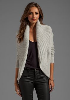 VINCE Circle Cardigan in Pebblestone - Vince (amy stran qvc
