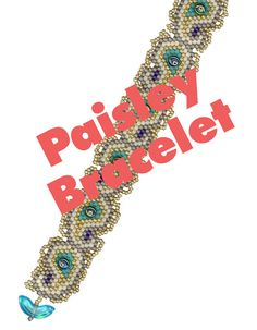 Paisley Bracelet Bead Weaving instant download PDF pattern for