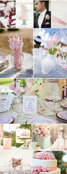 Mesas de boda en colores pastel