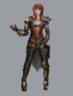 Steampunk Jane concept 3 by Rayph.deviantart.com on @deviantART