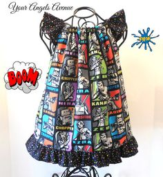 Girls Toddler Baby Marvel Comics Star Wars Rebels Flutter Sleeve Ruffle Peasant Dress Newborn-Size 6