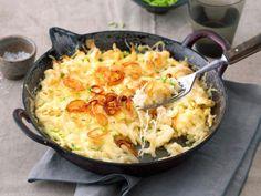 Echtes Seelenfutter: Probieren Sie unser Rezept für vegetarische Käsespätzle aus der Pfanne.