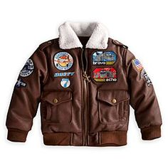 Disney Planes Bomber Jacket for Boys | Disney StorePlanes Bomber Jacket for Boys - Heroic hearts take flight in this deluxe, vintage style bomber jacket with faux leather shell and wooly warmwear trim. We've added embroidered insignia and Planes character appliqu�s to advance the squadron of high style!