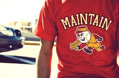 """Maintain """"Stealing Bases"""" T-shirt designby Miguel Ibarra"""