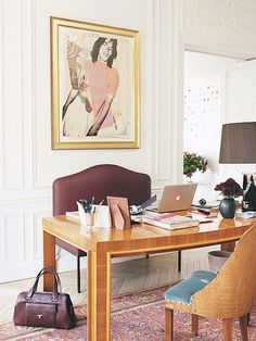 Home Office Design Inspiration - DigsDigs L'wren Scott, Home Office Design, Office Decor, House Design, Office Designs, Office Ideas, Best Office Chair, Office Chairs, Office Seating