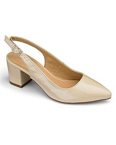 confortable wide shoe in nude colour