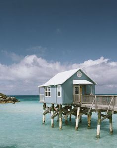 I could live in this tiny house until the hurricane comes through! :)