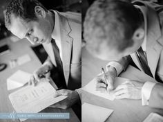 Groom writes letter and bible verse