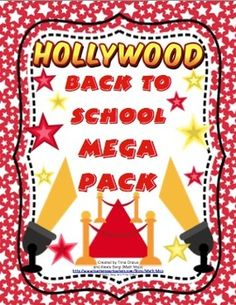 Hollywood Themed Back to School Mega Pack -  Roll out the red carpet and get ready for an all star year! This pack will help you with all aspects of starting your school year with printable room decor, open house activities, first week activities, and much more! $