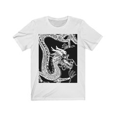 White Dragon Tattoo Art T-shirt Tattoo T Shirts, Tattoos, Dragon Tattoo Art, White Dragon, Tees For Women, Cute Tshirts, Cool Outfits, Cool Stuff, Mens Tops