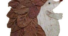 Artes de outono -  técnica de artes: colagem de folhas secas. Piet Mondrian, Burlap Wreath, Wreaths, Home Decor, Kids Playing, Woodblock Print, Collage, Leaves, Fall