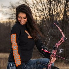 LONG SLEEVE BLACK WITH ORANGE AND DIAMOND PLATE LOGO  Please visit BuckedUpApparel.com  #buckedup #hunting #deer  #country #monsterjam #countrygirl #countryboy #countrymusic #redneckgirl #outdoorsy #bonefire #trucks #deerseason #bowhunting #outdoors #shedhunting #antlerswithattitude #mudding #getbuckedup #orange #hunter #huntress #bowsbeforebros #bow #trees #girlshunttoo