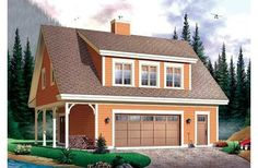 House Plan 23-623 - garage house for mom