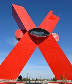"A giant ""X"" symbolizes the blood spilled from the brutal Juarez drug wars"