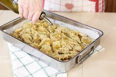 carciofi panati al forno Veggie Side Dishes, Antipasto, Frittata, Cauliflower, Macaroni And Cheese, Buffet, Menu, Vegan, Chicken