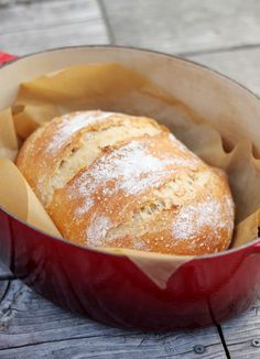 Simple homemade bread - Another no knead but without the eleventy-million hours to rise.