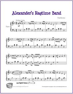 Alexander's Ragtime Band | Free Sheet Music for Piano | MakingMusicFun.net