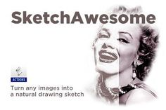 SketchAwesome: Sketch Photoshop Action