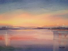 Cross River Reflections, 2013, Watercolor by Betsy Jacaruso
