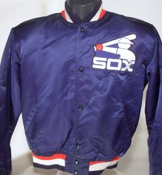 Vintage Chicago White Sox 80s Blue Stain Starter by RedFiveVintage