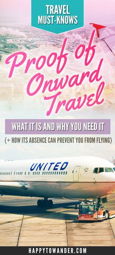 Such an important travel tip that too many travelers forget! Always have Proof of Onward travel when you go abroad, because otherwise you might not be allowed on the plane or into the country. Here's a guide on what that means and what your options are for producing proof of onward travel.