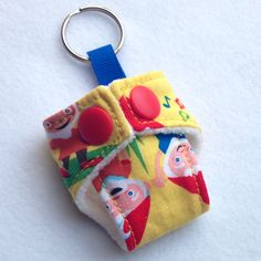 A personal favourite from my Etsy shop https://www.etsy.com/listing/199689733/cloth-diaper-cloth-nappy-mini-keychain