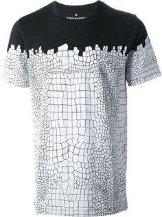 KRIS VAN ASSCHE - crocodile print T-shirt 6 #Fashion